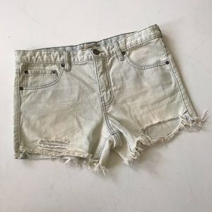 Free People distressed jean shorts 27